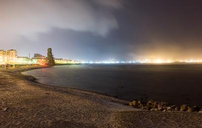 Цемесская бухта Ночь море бухта ночной город