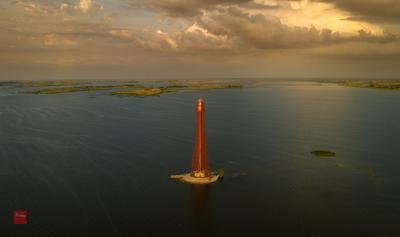 Аджигольский маяк маяк закат Днепр