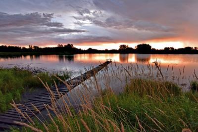 Просто рассвет Утро озеро рассвет