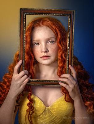 Портрет Портрет рамка рыжик
