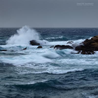 *** море, шторм, этюд, кипр