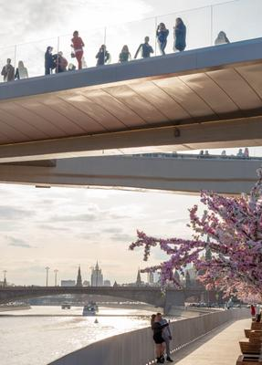 Парящий мост Мост река парящий мост москва