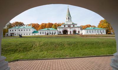 Вид на комплекс Передних ворот передние ворота коломенское
