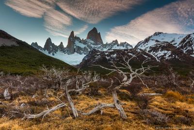 Патагония Патагония Аргентина Фитц Рой горы закат