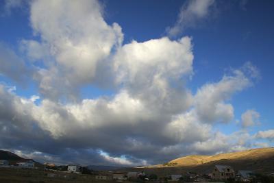 С первыми лучами горы, небо, природа, Крым, рассвет