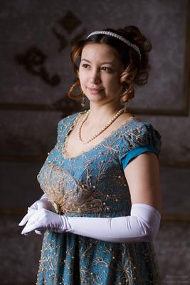 Леди 19 века портрет историческая стилизация костюм девушка женский ампир