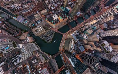 Windy City Chicago Airpano Windy City Aerial panoramic