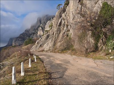 По старой дороге… Крым дорога Ялта Форос горы скалы