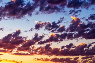 Фиолетовый рассвет облака рассвет тучи