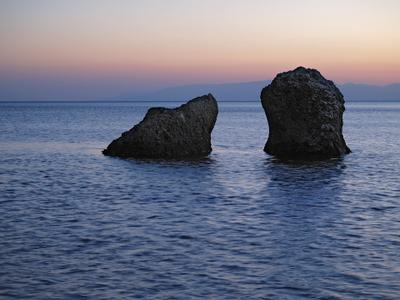 *** крым, меганом, вечер, камни, море