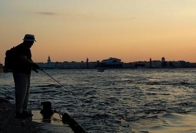 рыбалка по-питерски питер рыбалка стрелка закат