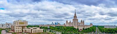 Открыточная панорама МГУ МГУ