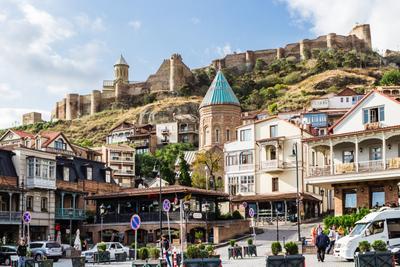 Тбилиси. Вид на крепость Нарикала Тбилиси город Грузия