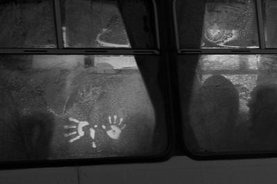 Ладошки Ладони ладошки стекло автобус онтровой
