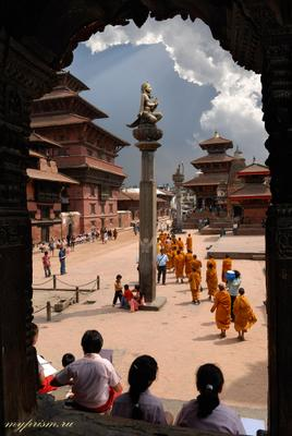 Урок рисования Катманду Непал Патан Pathan
