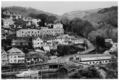Looe in black&white UK, England, Cornwall, Looe