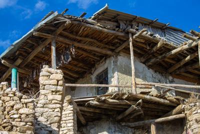 1719 сакля, Рацитл, Верхнее Инхело, горы, Дагестан, Кавказ