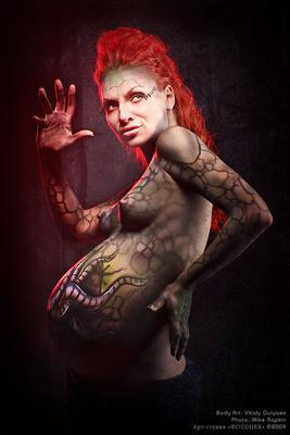 Мать Ктулху боди-арт