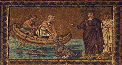 рыбаки и Христос озеро река небо душа рыба