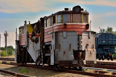 СС-1М №13 струг железная дорога поезда техника сс-1м приволжская ЖД железнодорожная железнодорожное