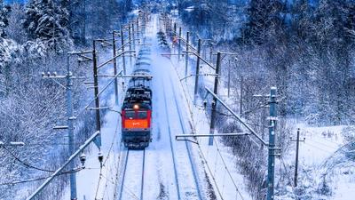 По снежному пути