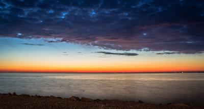 Линии заката пейзаж линии облака финский залив закат море вода цвета горизонт длинная выдержка