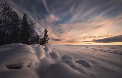 Хибины,Кольский край.оз.Имандра,март 2016 г. Хибины Кольский полуостров Зима мурманская область закат