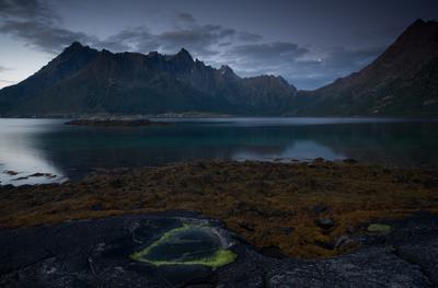Lofoten night Norway, Lofoten, Лофотенские острова