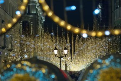 Москва новогодняя (7) Новый год Рождество Москва город