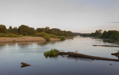 Сумерки река рассвет выдержка