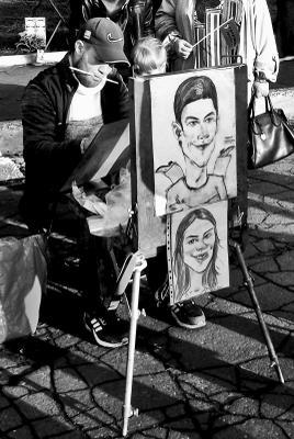 За работой.... художник мольберт творить