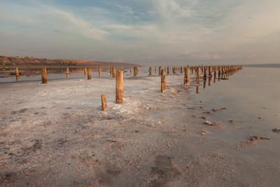 Утро на лимане лиман море вода океан пейзаж морской утро рассвет заря