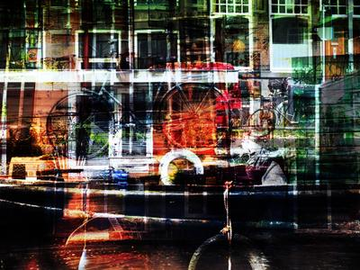 *** цвет коллаж Амстердам город контраст