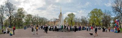 ПАНОРАМА Адмиралтейство. Лето. Адмиралтейство фонтан панорама Петербург центр