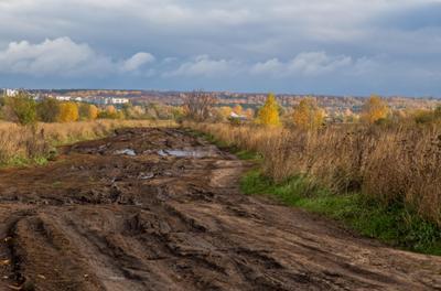 Дороги природа пейзаж осень дорога татарстан борисоглебское