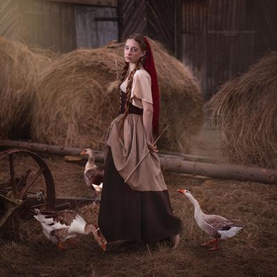 Пастушка Портрет пастушка гуси