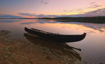 *** Карелия лето озеро рассвет