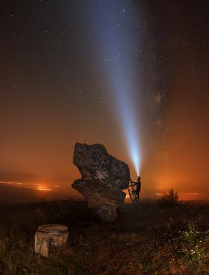 Ночью по грибы Доброванские грибы ночь скальные образования