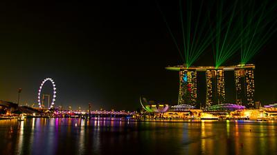 Ночной Сингапур...