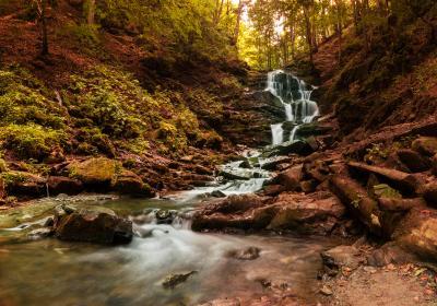 Водопад Шипот водопад горы осень пейзаж природа