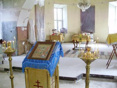 Храм на ремонте Верх-Нейвинск храм Воскресения Свердловская