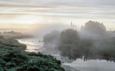 Утро дунилово утро река туман