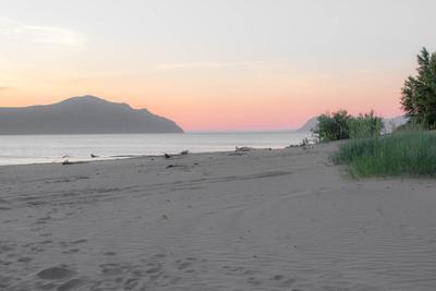 Июньский закат Красноярское море