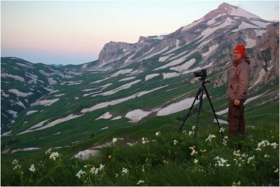 В ожидании света Кавказ, Адыгея, Оштен, Узуруп, Гузерипль, фотограф, девушки, море, цветы