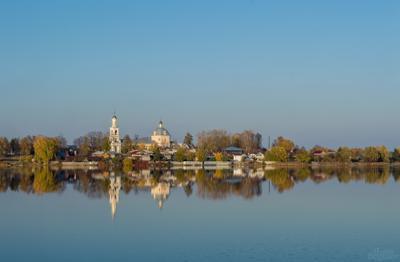Верхний пруд пейзаж пруд церковь