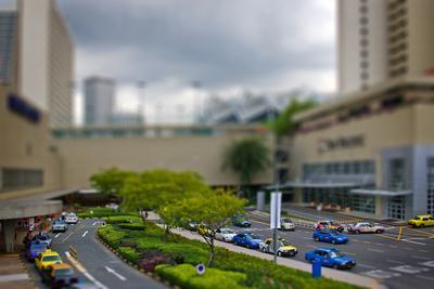 игрушечный Сингапур сингапур, raffles blv., юго-восточная азия, tilt-shifting