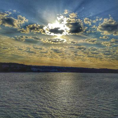 Там, за облаками... облака Солнце Волга