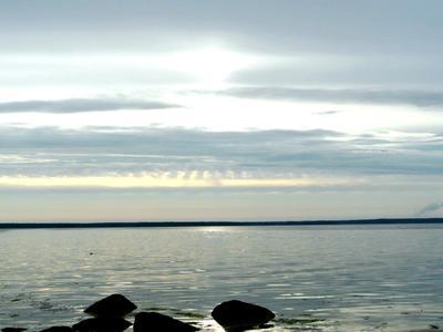 Залив на закате... закат залив вода..