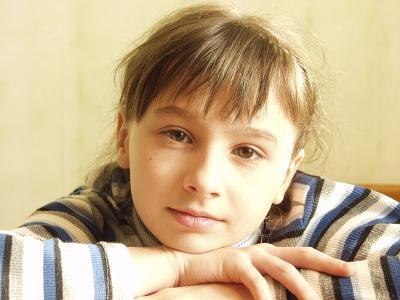 портрет младшей Вера домашний портрет