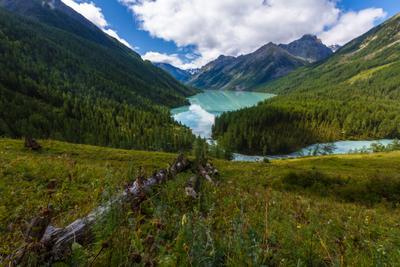 Кучерлинское озеро Кучерла Катунский хребет Горный Алтай